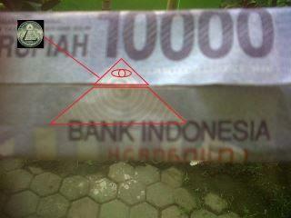 Gambar uang kertas 10000 baru simbol yahudi