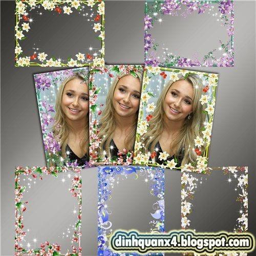 Frames for Photoshop - Flower World