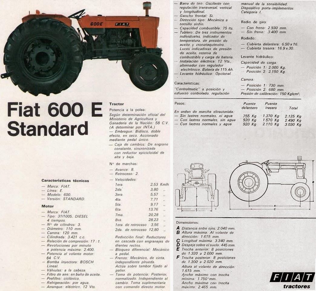 pesados argentinos fiat 600 e e dt f rh pesadosargentinos blogspot com Fiat Tractor Dealers in Us Fiat 800