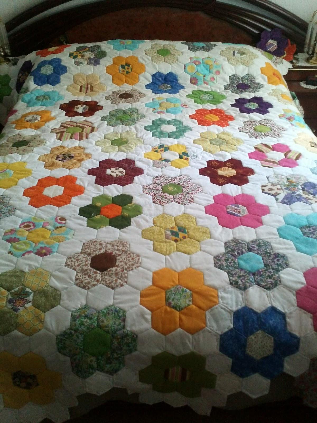 El rincon de angela colcha de patchwork - Como hacer pachwork ...