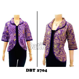DBT2704 Model Baju Blouse Batik Modern Terbaru 2013