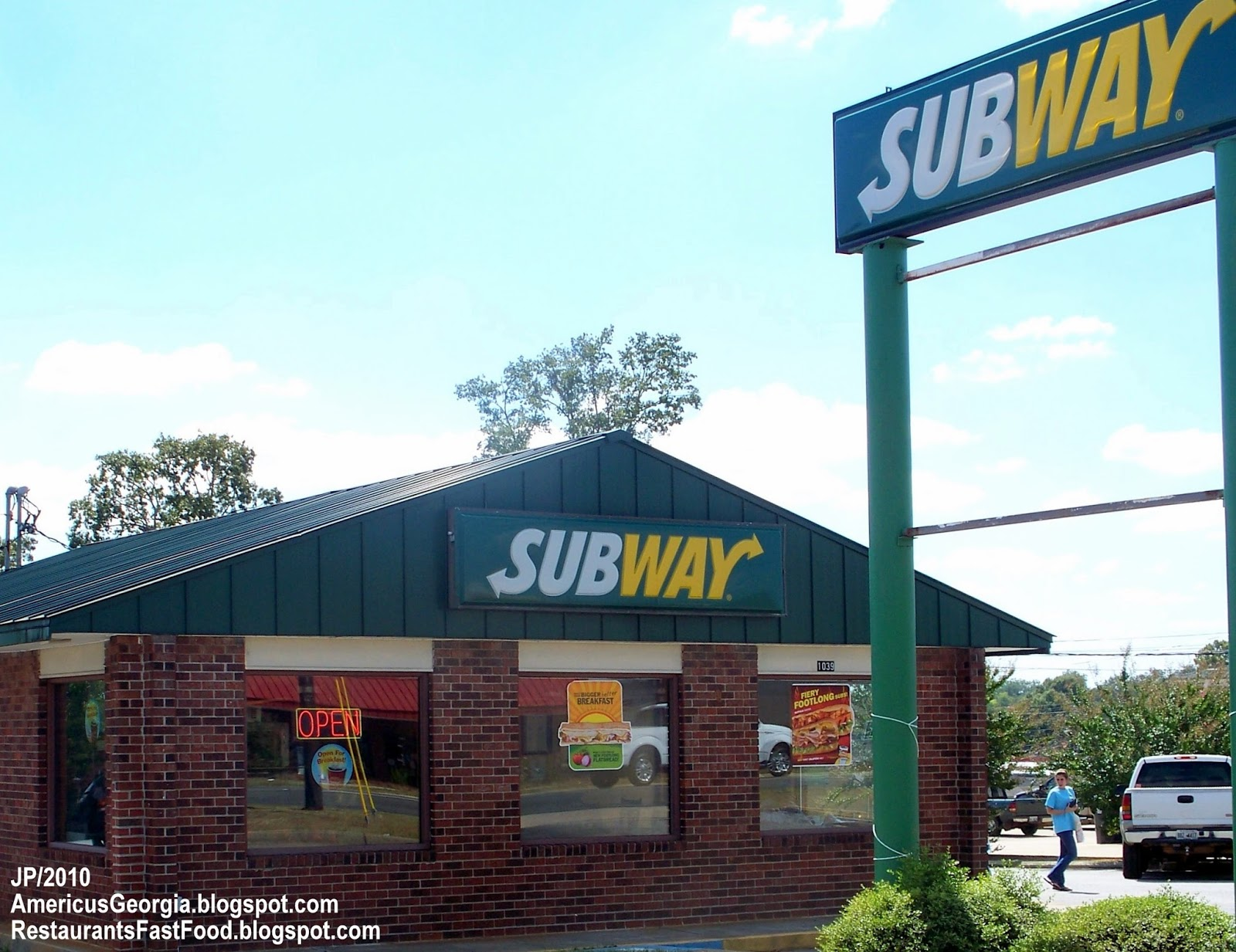 Subway Sandwiches Americus Georgia E Forsyth Street Sandwich Fast Food Restaurant Sumter County