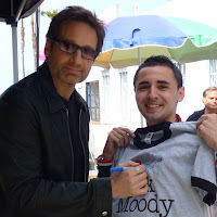 My Idol and me <3 #californication #californicationseason7 #california #hankmoody #davidduchovny #losangeles #hollywood #venicebeach #santamonica #people #followers #follow #stars #actor #famous #showtime #tvshow #famous #malibu #set #californication2013 #xfiles #hankismyhero #usa #unitedstatesofamerica
