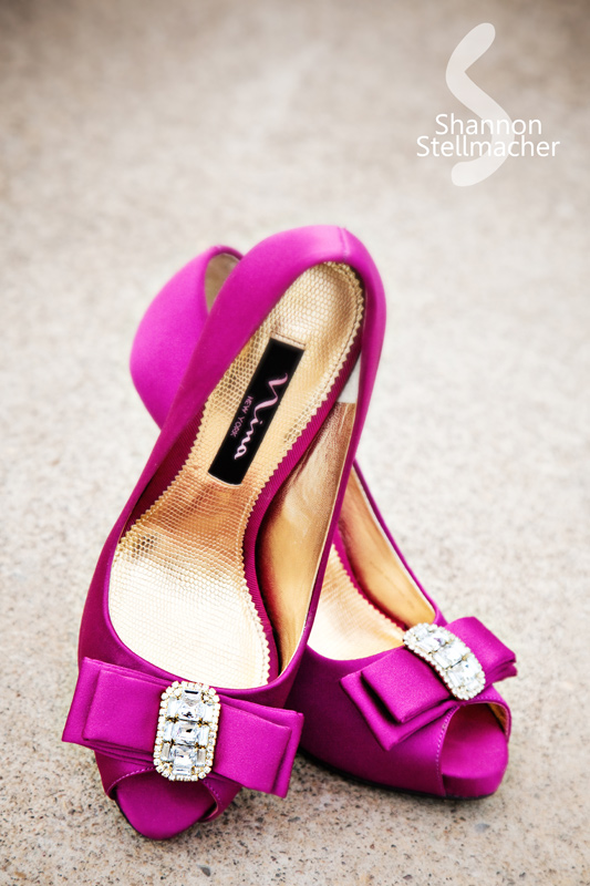 Pink Bow Wedding Shoe