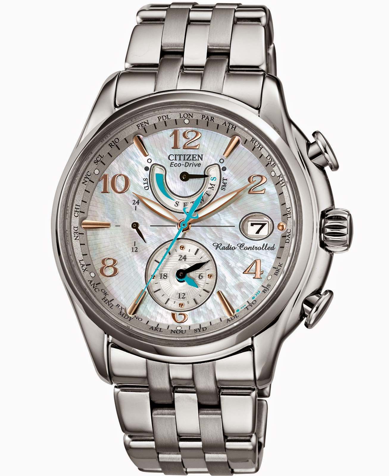Swiss design watches kelly clarkson with citizen world time a t eco drive luxury women watch for Eco drive watch