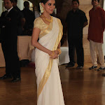 Asin Looks Gorgeous In Kerala Traditional White Saree At Riteish Deshmukh, Genelia D'Souza Wedding