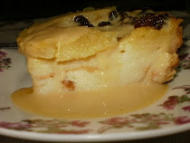 Bread Pudding with Vanilla Custard Sauce