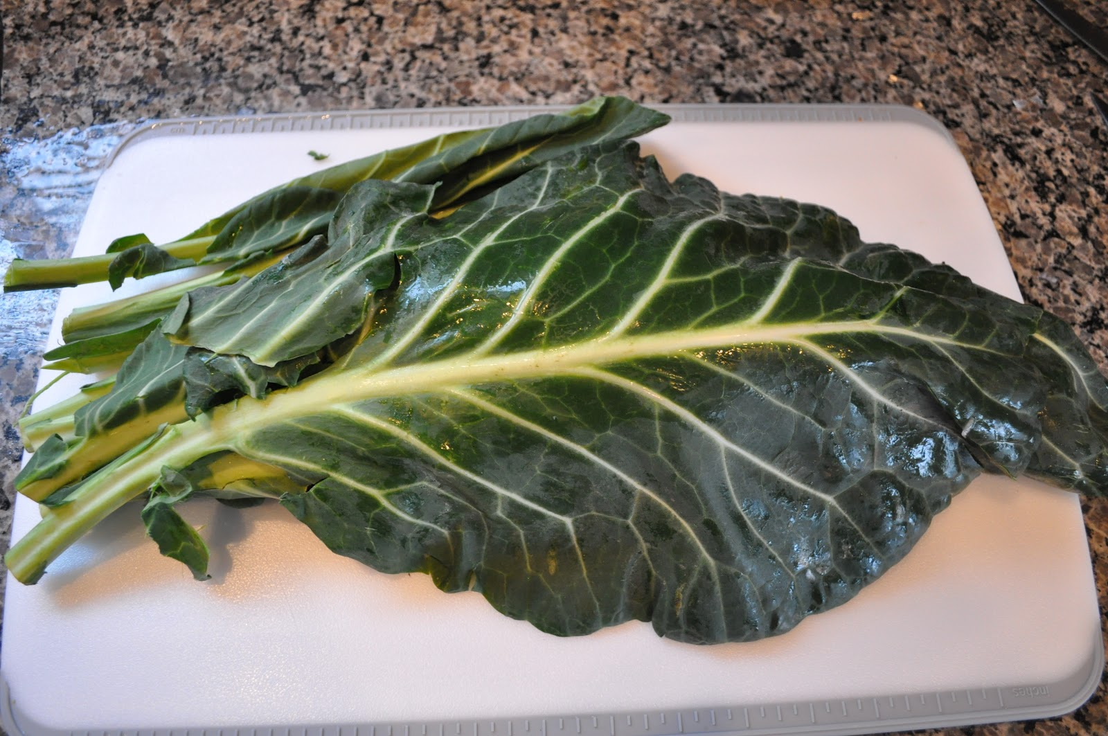 Collard Greens with Leeks and Bacon recipe at bottom of page