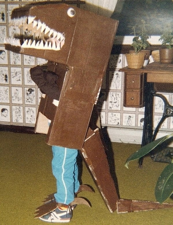 Dinosaur costume fail