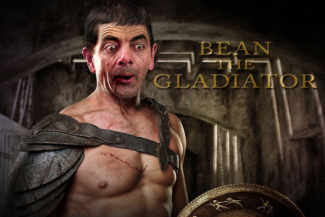 mr. bean the gladiator