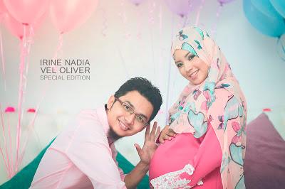 Irine Nadia Selamat lahirkan baby girl