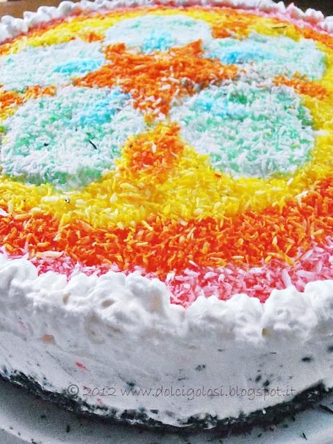 Dolci golosità: Torta compleanno decorata con cocco