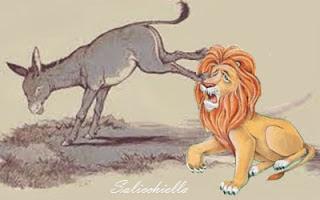 Il vecchio leone, il cinghiale, il toro e l'asino (Esopo)