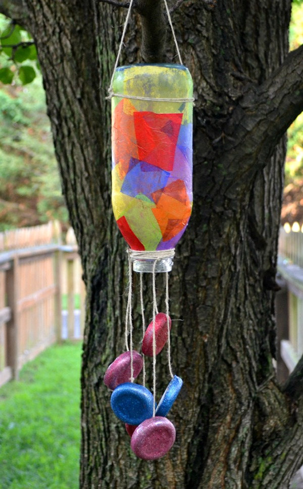 plastic bottle wind chimes munchkins and mayhem