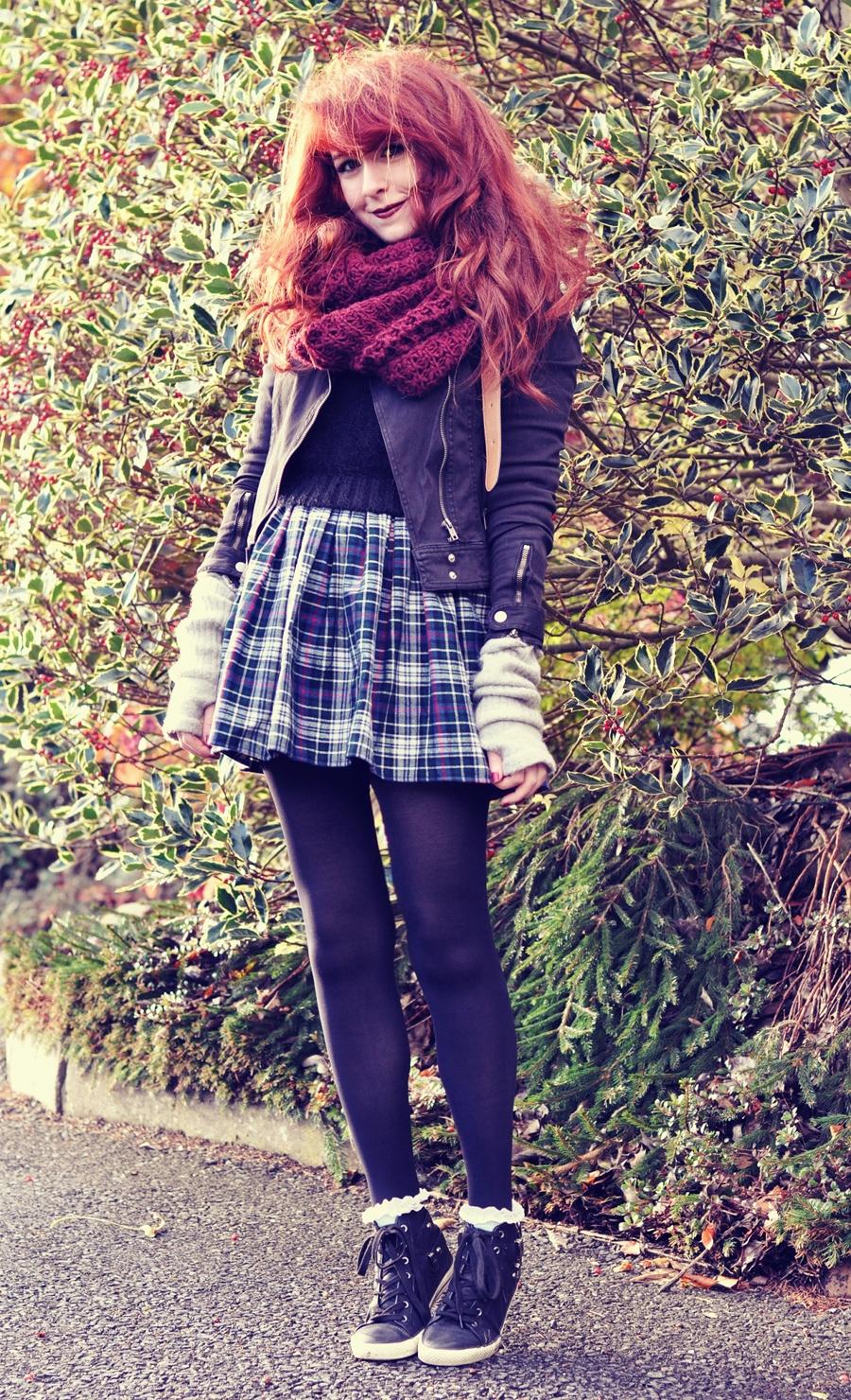 American Apparel Plaid Tartan Skater Skirt