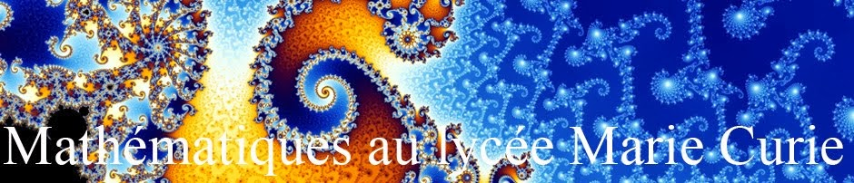 Mathématiques au lycée Marie Curie