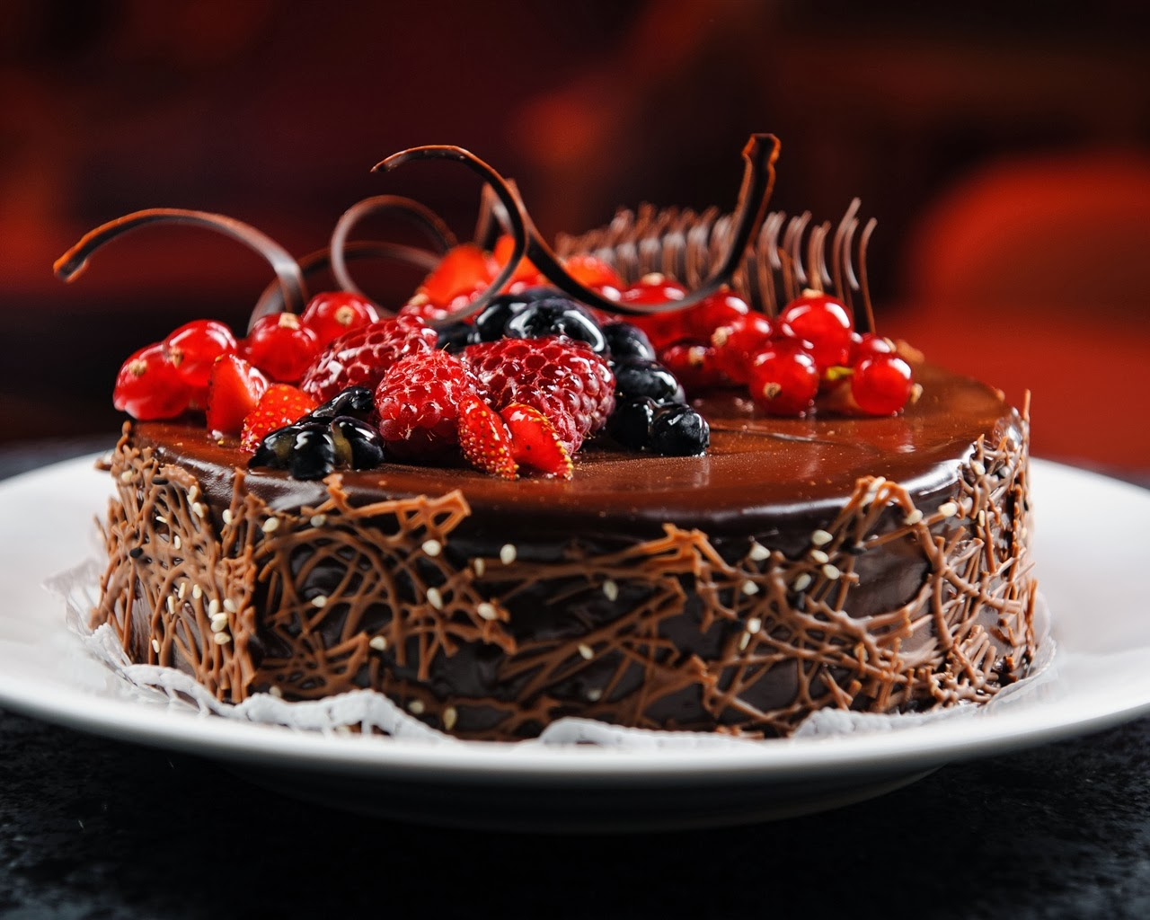 Fruit Chocolate Cake Images : Chocolate and Muffins