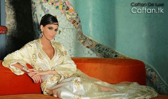 robe-marocaine-blanche-perlé-2014