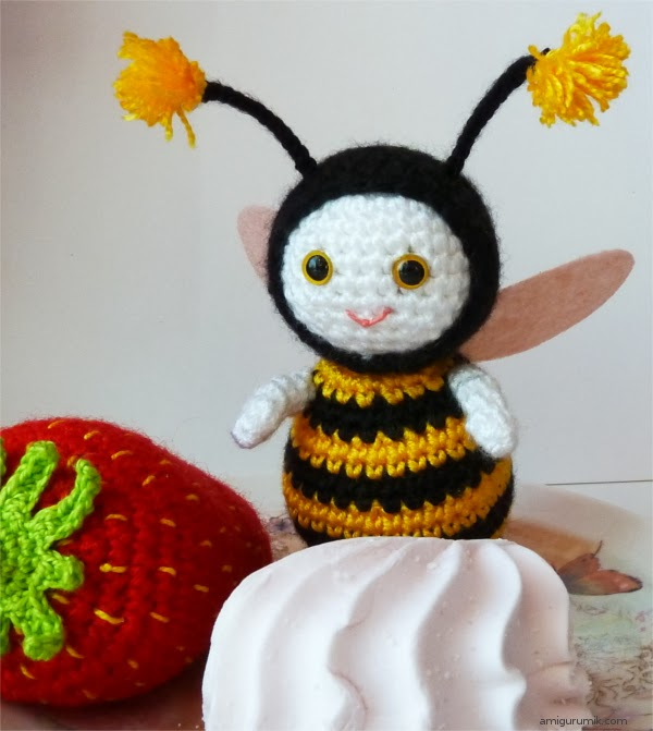 амигуруми пчелка схема