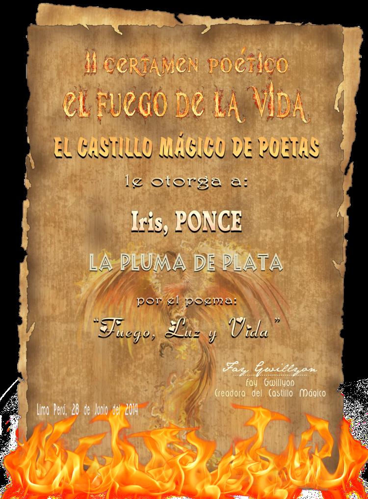 II CERTAMEN EL FUEGO DE LA VIDA EN CASTILLO MÁGICO. 2DO. LUGAR
