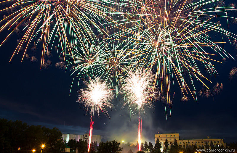 Праздничный фейерверк. День города в Саранске