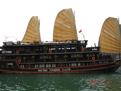 Barco Junco - Bahia de Halong - Vietnam