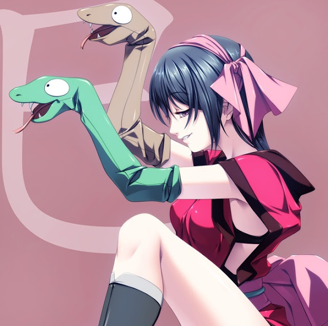 anime snake,anime ninja,Rezi