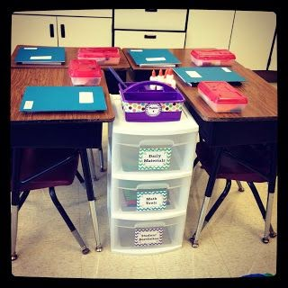 New desk arrangment and christmas in july continued - Classroom desk organization ideas ...