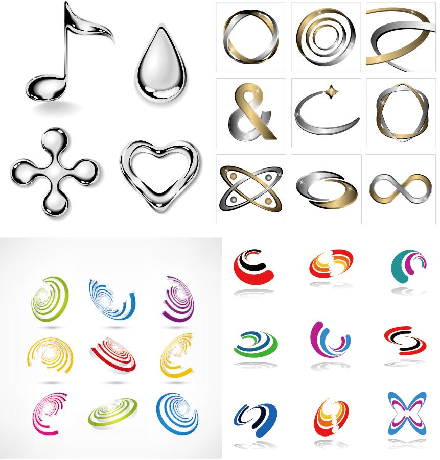 メタリックな実用的グラフィック素材 Metal quality water droplets some practical graphics イラスト素材