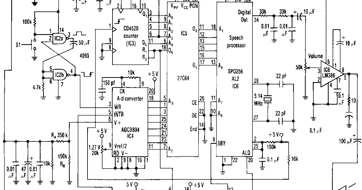 super circuit diagram  ac line voltage announcer circuit