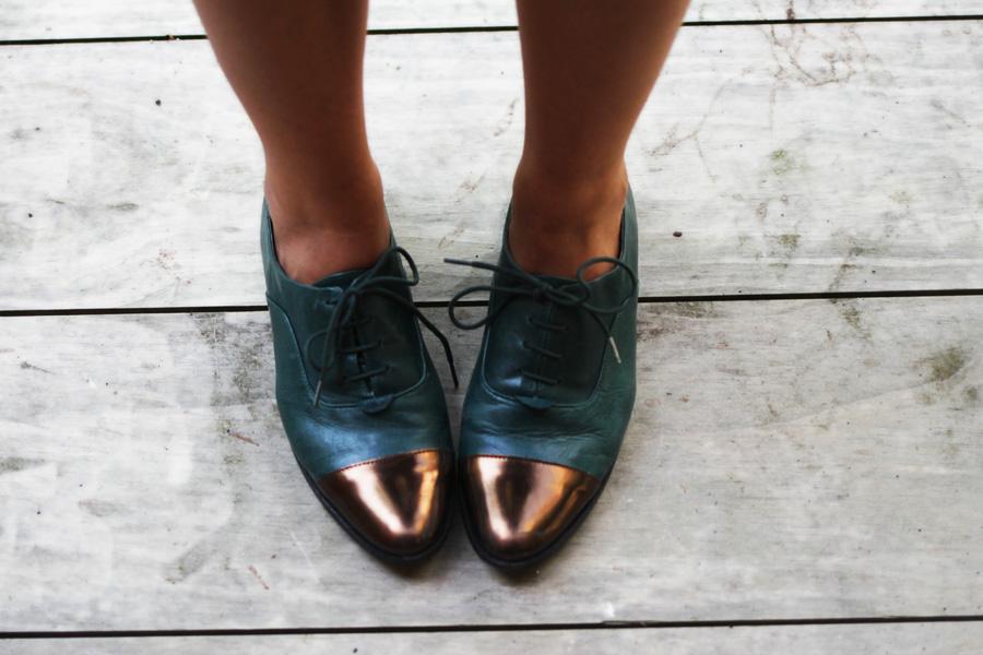 flats vintage shoes