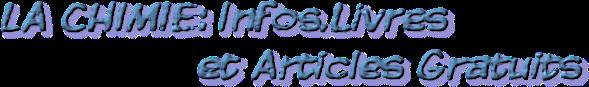 LA CHIMIE: Télécharger livres et documents gratuits