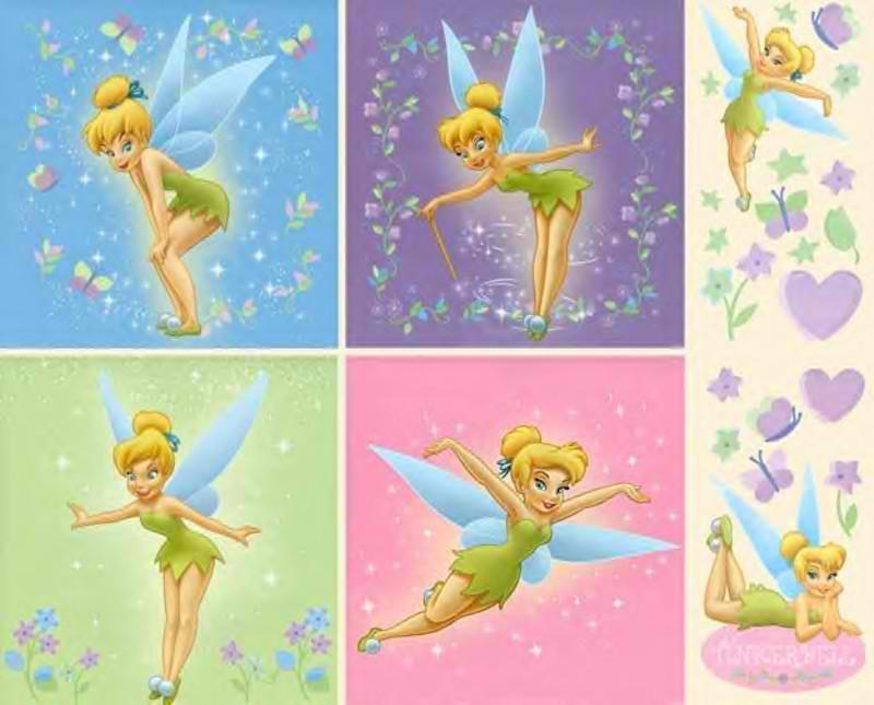 Roundup of Free Tinkerbell Borders and Backgrounds