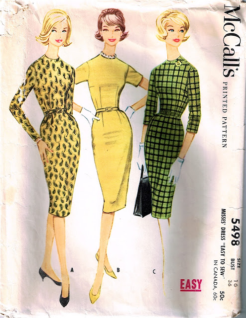1960s Jackie Kennedy wiggle dress Mad Men shift pattern Just Peachy, Darling