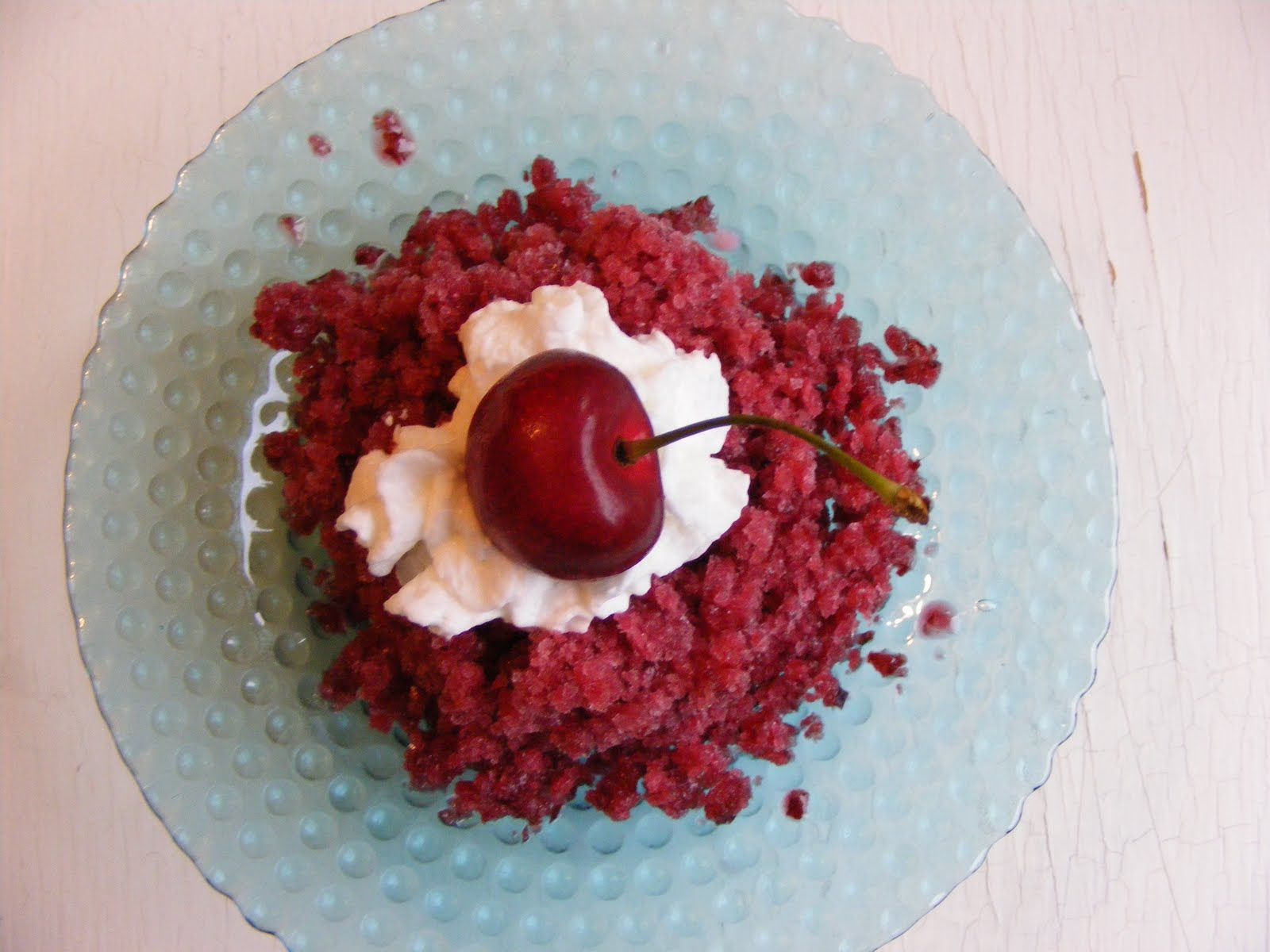The Virtual Goody Plate: Sweet Cherry Granita
