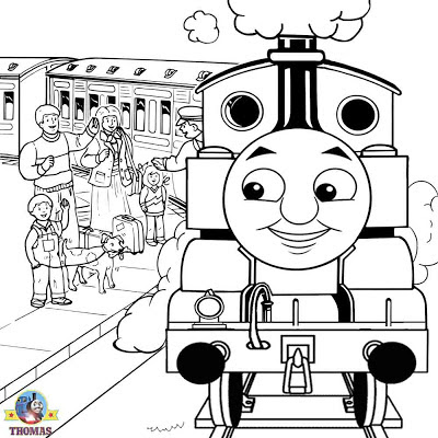 Cartoon pictures of Annie and Clarabel Thomas the tank engine colouring pages to color and print out