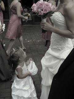 little, girl, dream, watch, wedding