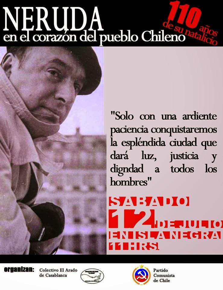 110 aniversario del natalicio de Pablo Neruda