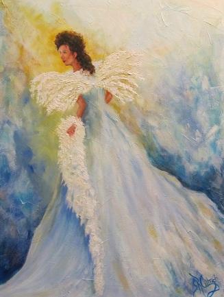 """""""Light of Grace"""", an angel in God's light"""