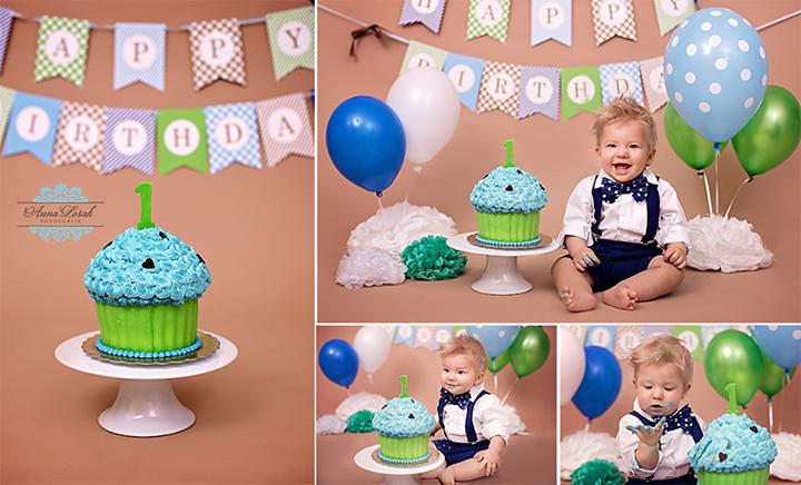 """Sesje urodzinowe """"Smash Cake"""" z tortem"""