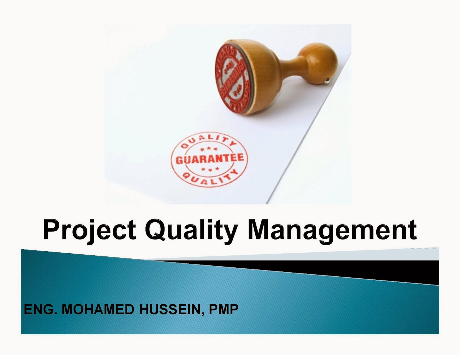 assignment quality management Video created by rice university for the course engineering project management: risk, quality, teams, and procurement 2000+ courses from schools like stanford and.