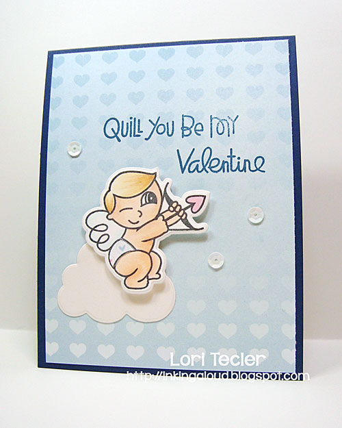 Quill You Be My Valentine card-designed by Lori Tecler/Inking Aloud-stamps and dies from Paper Smooches
