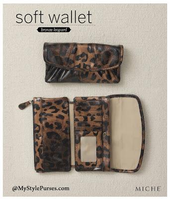 Miche Soft Wallet Bronze Leopard