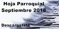 Hoja Parroquial Septiembre 2018