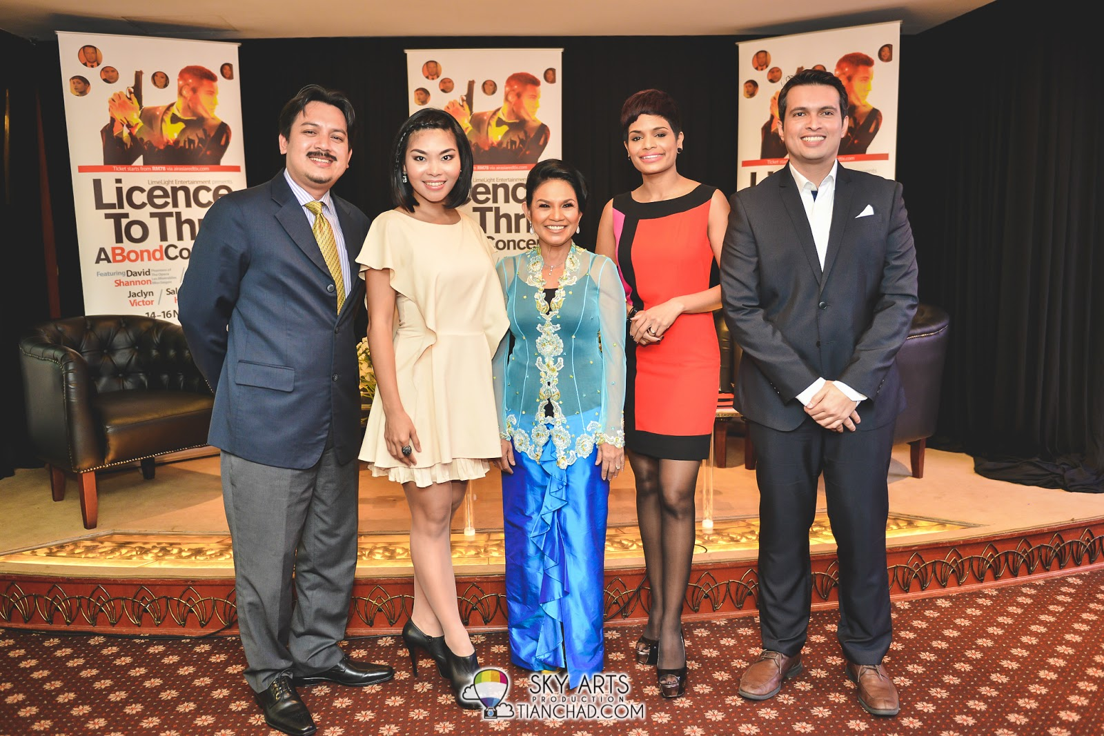 Nik Kamaruzaman Nik Husin of Istana Budaya, Nikki Palikat, Salamiah Hassan, Jaclyn Victor and Brian Johnson Lowe of LimeLight Entertainment