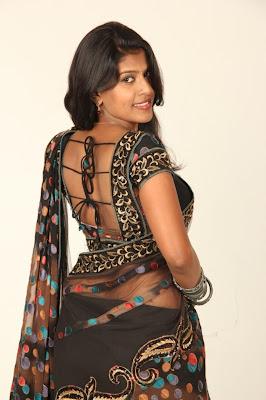 Actress nithya in black saree looking gorgeous