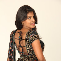 Actress nithya in black saree looking gorgeous