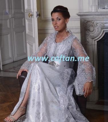 takchita gris clair : 200 287   Caftan Elegance 2017