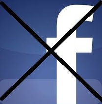 Facebook Logo Crossed Out