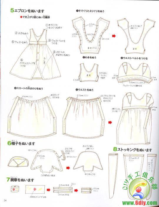 Creazioni con stoffa barbie abbigliamento modelli di libri - Modelli di ghirlanda stampabili ...